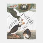 Puffin Birds Wildlife Animals Fleece Blanket