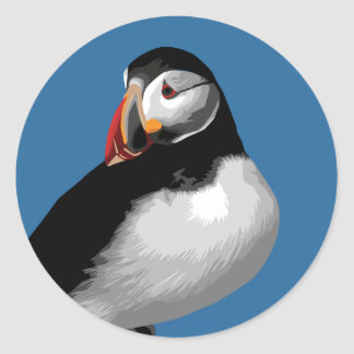 Puffin Classic Round Sticker