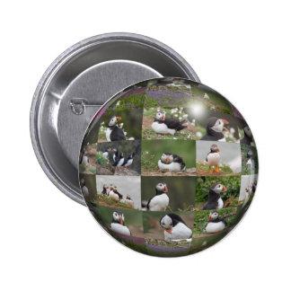 Puffin Collage 6 Cm Round Badge