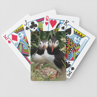 Puffin Couple Poker Cards