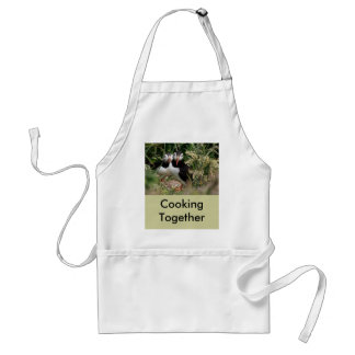 Puffin Couple Standard Apron