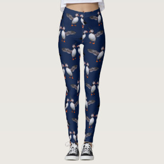Puffin Frenzy Leggings (Navy)