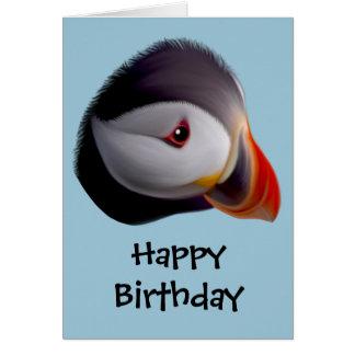 Puffin Happy Birthday Card