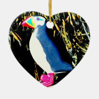 puffin heart ornament
