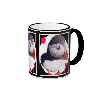 Puffin Hearts Mug