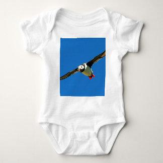 Puffin in flight skellig Islands Ireland Baby Bodysuit