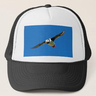 Puffin in flight skellig Islands Ireland Trucker Hat