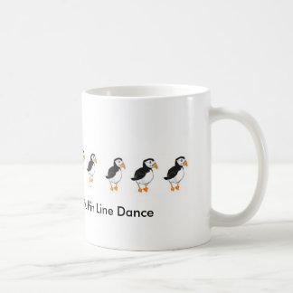 Puffin Line Dance Basic White Mug