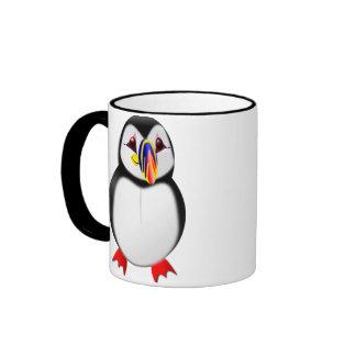 Puffin Ringer Coffee Mug