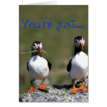 Puffin Pair Valentine's Card 'So my type'