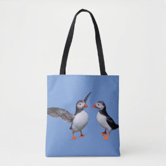 Puffin Pals All-Over-Print Bag (Blue)