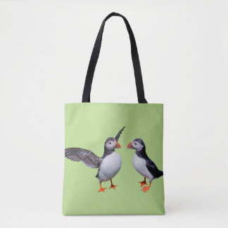 Puffin Pals All-Over-Print Bag (Green)