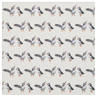 Puffin Pals Fabric (Choose Your Colour)