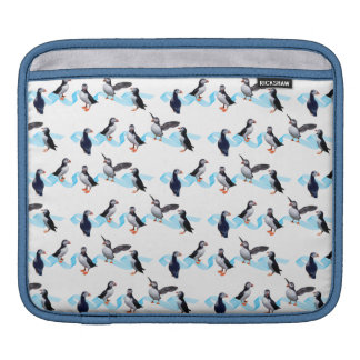 Puffin Party iPad Sleeve (choose colour)