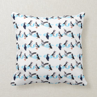 Puffin Party Pillow (choose colour)
