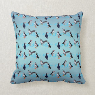 Puffin Party Pillow (Sky Blue Mix)