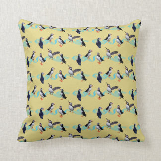 Puffin Party Pillow (Yellow)
