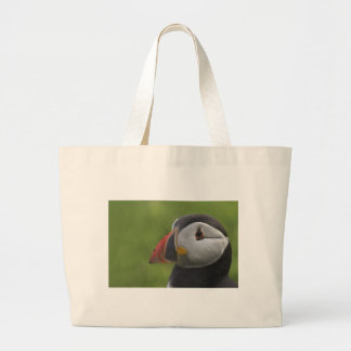 Puffin Portrait 2 Large Tote Bag