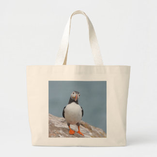 Puffin Pose Large Tote Bag