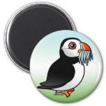 Puffin Prowess 6 Cm Round Magnet