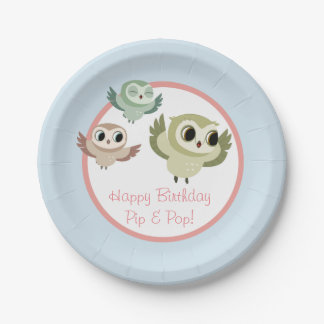 Puffin Rock Party Cup - The Hoots 7 Inch Paper Plate