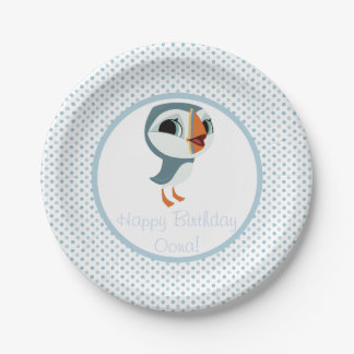 Puffin Rock Party Plate - Oona 7 Inch Paper Plate
