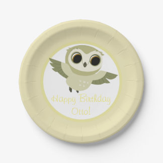 Puffin Rock Party Plate - Otto 7 Inch Paper Plate