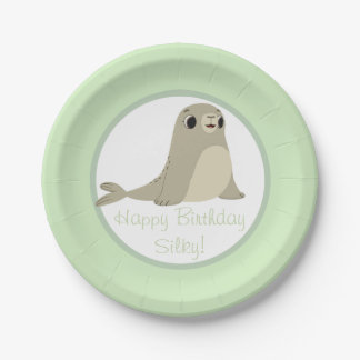 Puffin Rock Party Plate - Silky 7 Inch Paper Plate