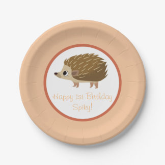 Puffin Rock Party Plate - Spiky 7 Inch Paper Plate