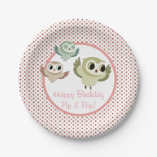 Puffin Rock Party Plate - The Hoots 7 Inch Paper Plate