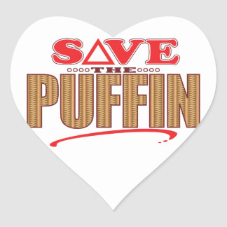 Puffin Save Heart Sticker