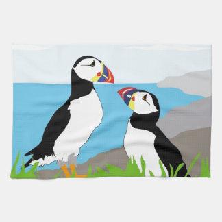 Puffin Sea Birds Tea Towel