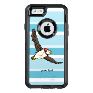 Puffin Wearing A Hat A Knitted Hat OtterBox Defender iPhone Case