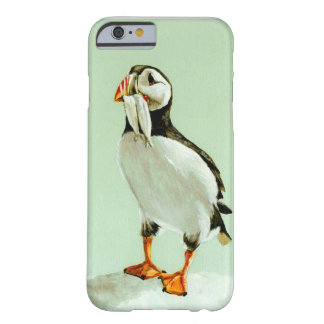 Puffin with Fish Barely There iPhone 6 Case