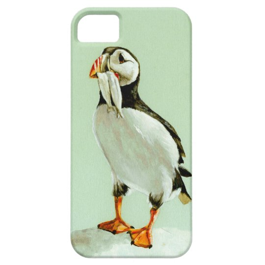 Puffin with Fish iPhone 5 Cover
