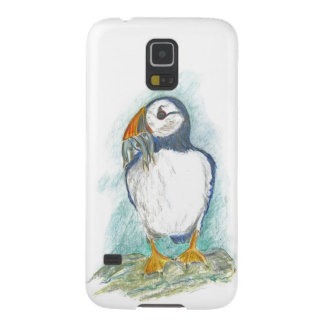 Puffin with Fish Snack Galaxy S5 Covers