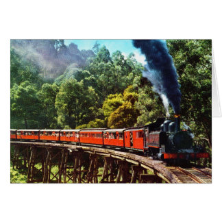 PUFFING BILLY IN AUSTRALIA CARD