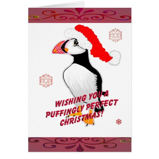 Puffingly Perfect Christmas! Card