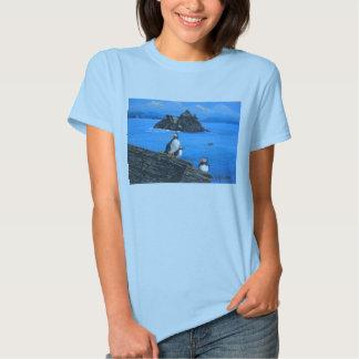 Puffins at Skellig Michael Ireland T-shirts