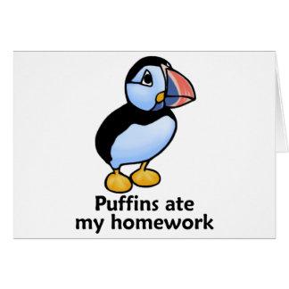 Puffins Ate my Homework Card