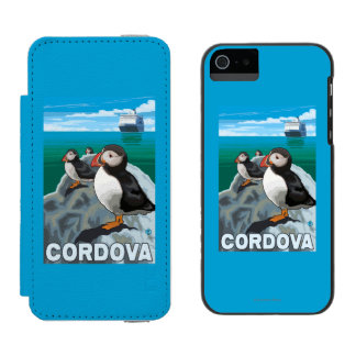 Puffins & Cruise Ship - Cordova, Alaska Incipio Watson™ iPhone 5 Wallet Case