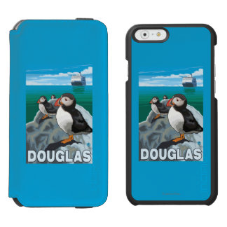 Puffins & Cruise Ship - Douglas, Alaska Incipio Watson™ iPhone 6 Wallet Case