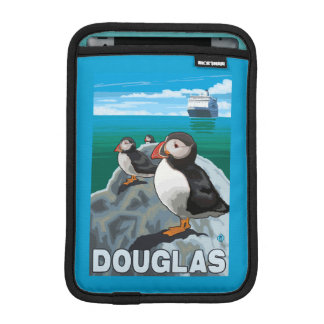 Puffins & Cruise Ship - Douglas, Alaska iPad Mini Sleeves