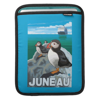 Puffins & Cruise Ship - Juneau, Alaska iPad Sleeves