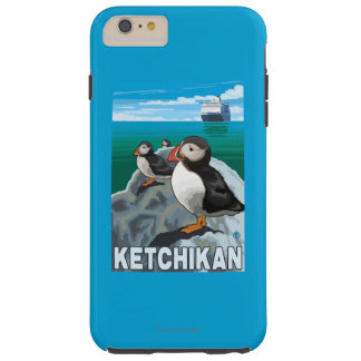 Puffins & Cruise Ship - Ketchikan, Alaska Tough iPhone 6 Plus Case
