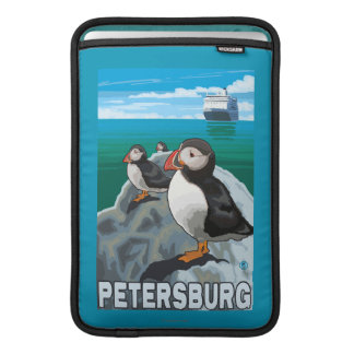 Puffins & Cruise Ship - Petersburg, Alaska Sleeve For MacBook Air