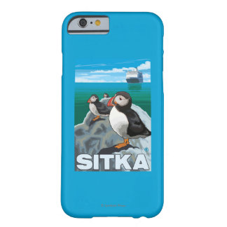 Puffins & Cruise Ship - Sitka, Alaska Barely There iPhone 6 Case