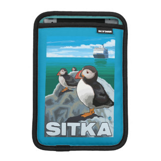 Puffins & Cruise Ship - Sitka, Alaska iPad Mini Sleeve