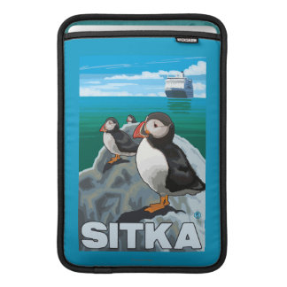 Puffins & Cruise Ship - Sitka, Alaska MacBook Air Sleeve