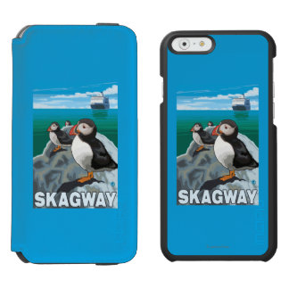 Puffins & Cruise Ship - Skagway, Alaska Incipio Watson™ iPhone 6 Wallet Case